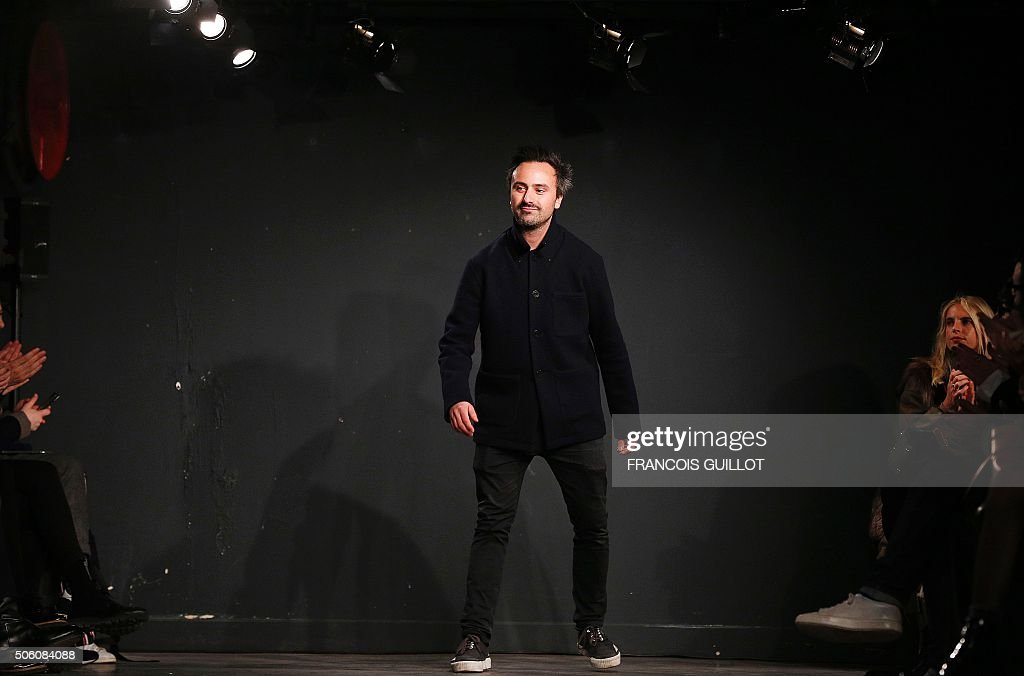 French Fashion Designer Julien David Acknowledges The Crowd After His News Photo Getty Images