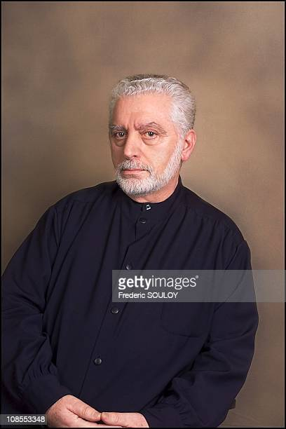 French Fashion designer Paco Rabane in Paris France on February 26th 2002