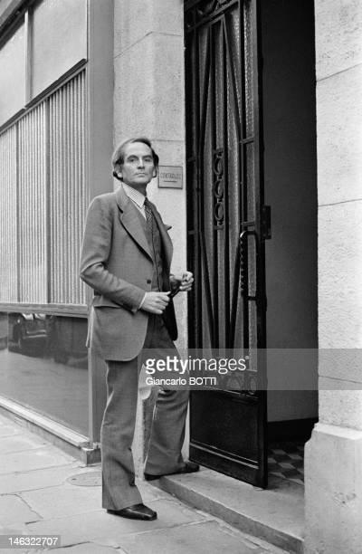 French fashion designer Pierre Cardin circa 1960 in Paris France