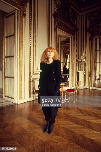French fashion designer Sonia Rykiel at the Hotel Crillon
