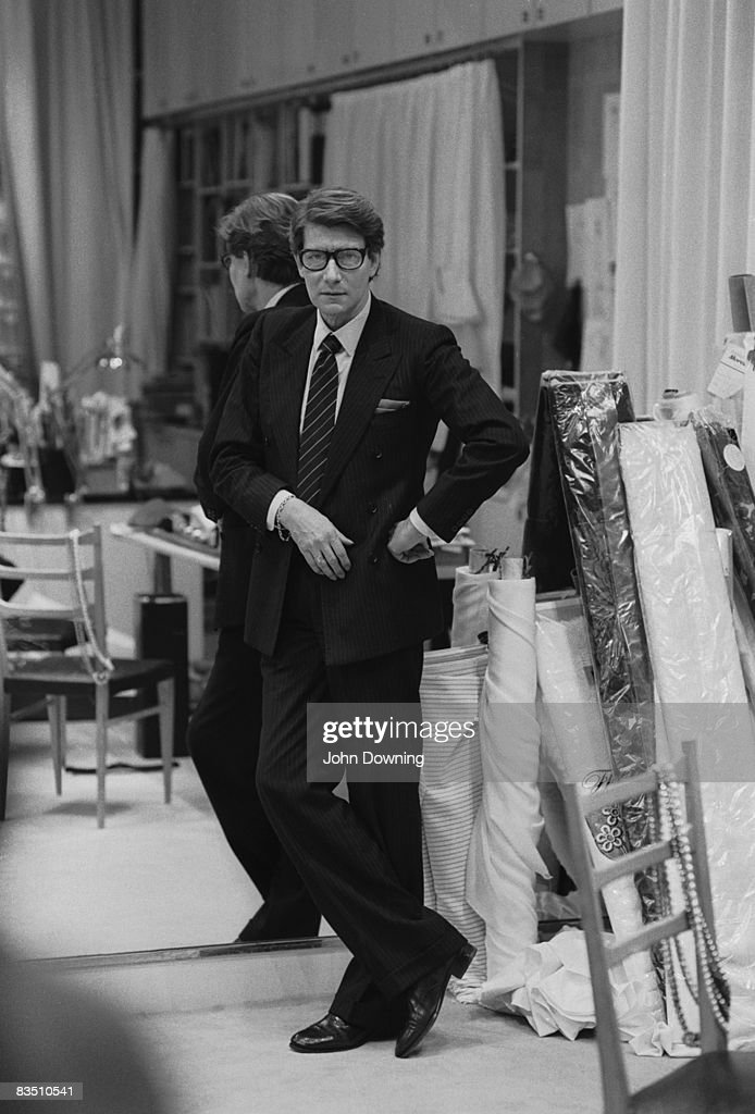 0b02f19497a French fashion designer Yves Saint Laurent in his Paris studio ...