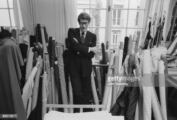 French fashion designer Yves Saint Laurent in his Paris studio, January 1982.