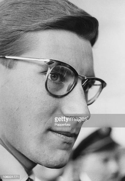 French fashion designer Yves Saint Laurent in London 12th September 1958 He is arranging to show his Autumn collection for Dior to an audience...