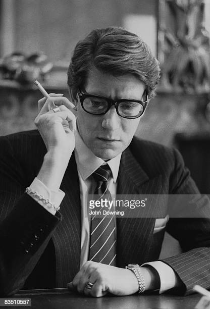 Yves saint laurent fashion designer stock photos and for Miroir yves saint laurent