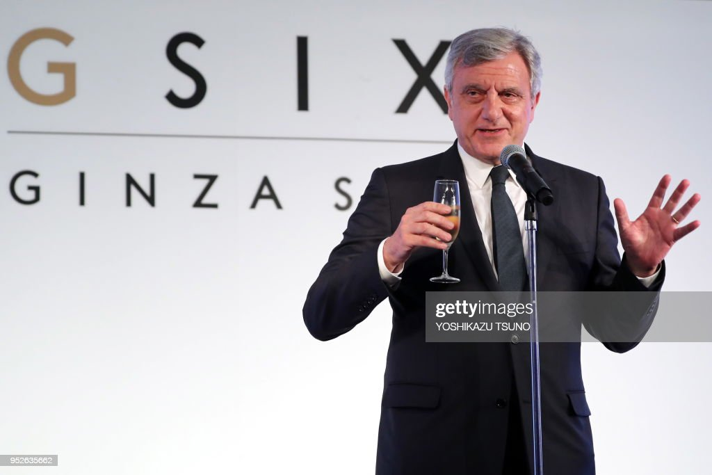 French fashion giant Christian Dior CEO Sidney Toledano delivers a