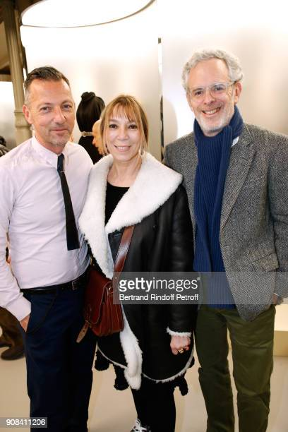 French fashion historian Olivier Saillard who choose 41 works of Azzedine Alaia for the Exhibition Victoire de Castellane and her husband Thomas...