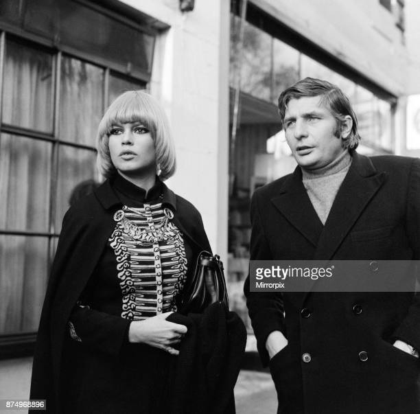 French film actress Brigitte Bardot in Central London on a shopping spree in Carnaby Street and Kings Road accompanied by her husband Gunther Sachs...