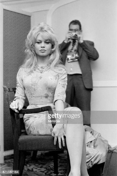 French film actress Brigitte Bardot in England to make a new film 'Babette Goes to War' April 1959