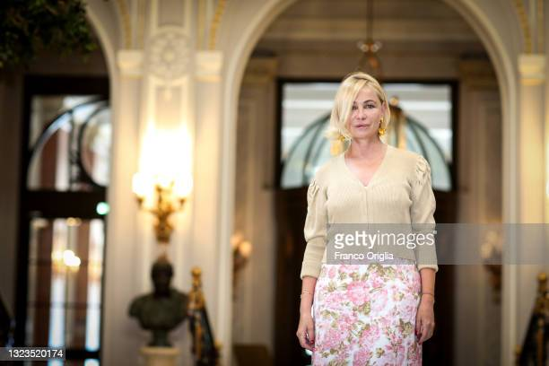 """French film actress Emmanuelle Béart attends 'La Daronne' photocall during the """"Rendez-Vous"""" French Movie Festival 2021at St. Regis Hotel attends the..."""