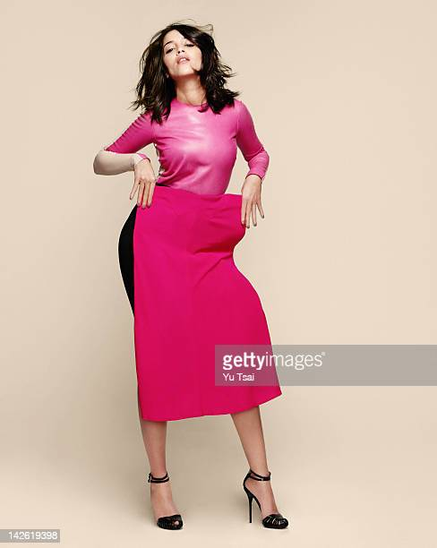 French film and television actress Leila Bekhti and French actress and filmmaker Geraldine Nakache are photographed for Glamour France on March 23...