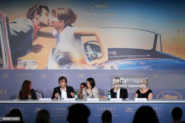 French film critic and moderator Guillemette Odicino Russian director Sergey Dvortsevoy a translator Kazakh actress Samal Yeslyamova GermanGreek...