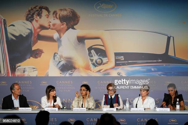 French film critic and moderator JeanPierre Lavoignat French producer Didar Domehri Iranian actress Golshifteh Farahani French director Eva Husson...