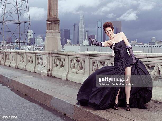 French film director and actress Audrey Dana is photographed for Paris Match on March 02 2014 in Los Angeles United States