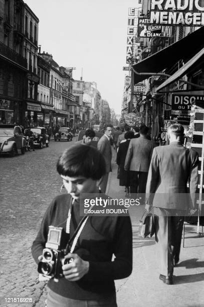 French Film Director And Photographer Agnes Varda In 1954