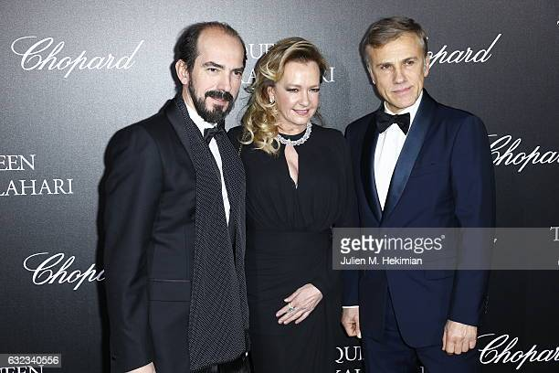 Alexis Veller Artistic Director and Co President of Chopard Caroline Scheufele and Christoph Waltz attend The Garden of Kalahari Movie Presentation...