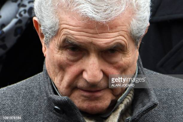 French film director Claude Lelouch attends the funeral ceremony for French music composer Michel Legrand at the Saint Alexandre Nevski Cathedral in...