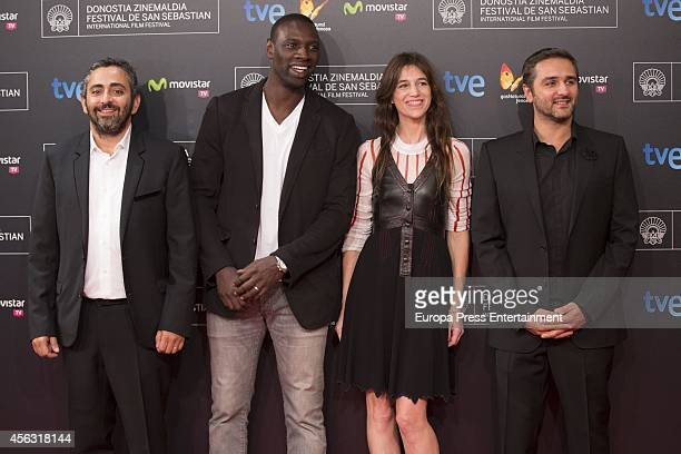 French film director Eric Toledano French actor Omar Sy French actress Charlotte Gainsbourg and French film director Olivier Nakache attend the...