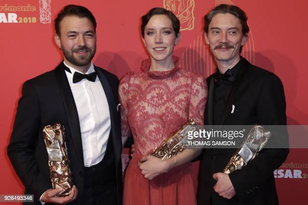 TOPSHOT French film director Hubert Charuel with his the Best First Feature Film award French actress Sara Giraudeau with her the Best Actress in a...