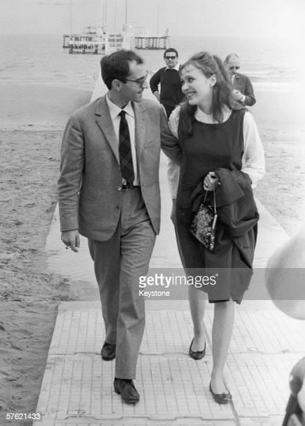 French film director JeanLuc Godard in Venice with his wife Danish actress Anna Karina 5th September 1963