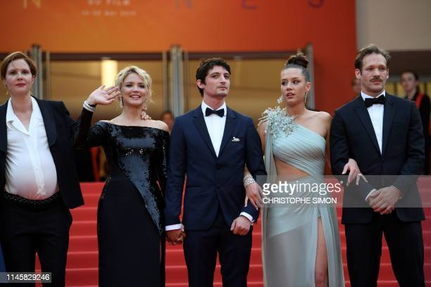 French film director Justine Triet Belgian actress Virginie Efira FrenchCanadian actor Niels Schneider French actress Adele Exarchopoulos and French...