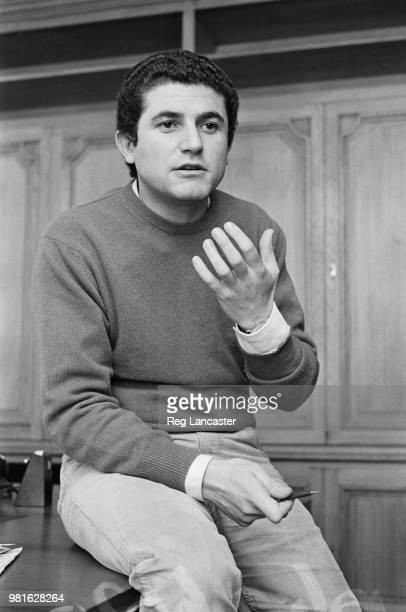 French film director writer cinematographer actor and producer Claude Lelouch in his office 14th November 1967