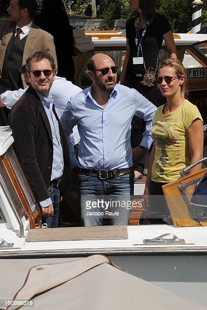 French film director Xavier Giannoli French actress Cecile De France and French actor Kad Merad are seen during The 69th Venice Film Festival on...