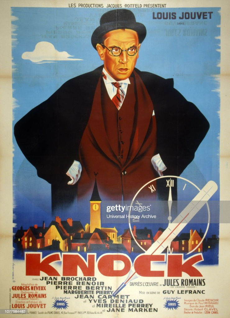 French Film Poster For Dr Knock A French Comedy Film