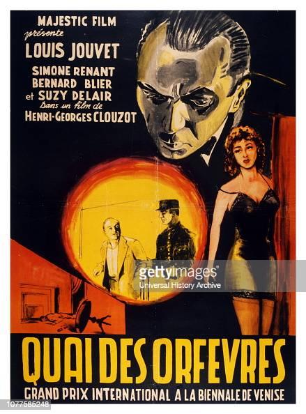 French Film Poster For The Film Quai Des Orfevres 1947
