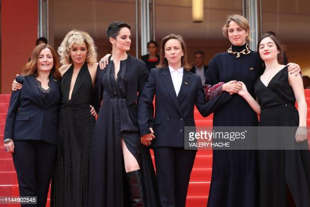 French film producer Benedicte Couvreur Italian actress and film director Valeria Golino French actress Noemie Merlant French director Celine Sciamma...