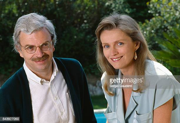 French film producer Daniel Toscan du Plantier with actress MarieChristine Barrault at the 1987 Cannes Film Festival