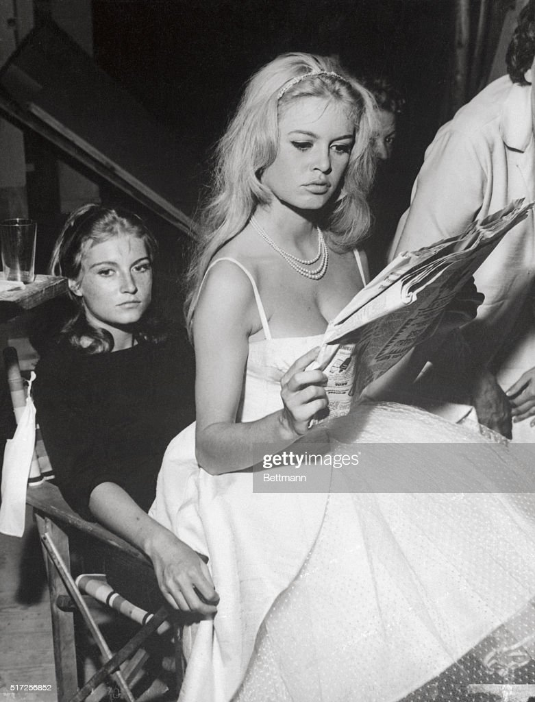 Actress Brigitte Bardot and Her Sister : News Photo