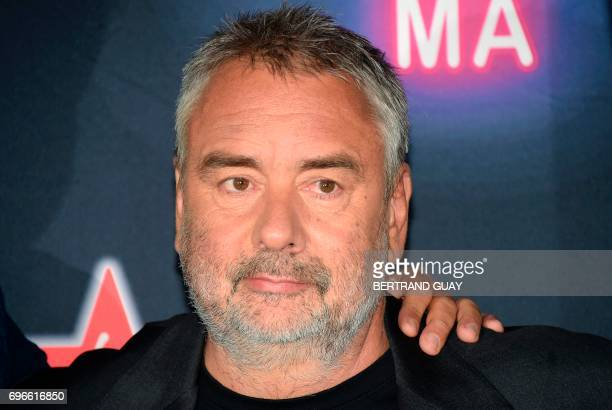 French filmmaker Luc Besson poses during a photocall for the press launch of the 33rd edition of the Fete du Cinema at the Cite du Cinema in...