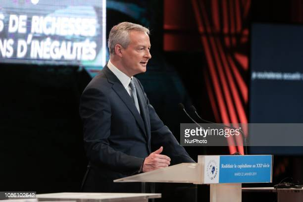 French Finance and Economy Minister Bruno Le Maire addresses the quotRendezVous de Bercyquot event at the economy ministry in Paris on January 22 2019