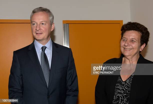 French Finance and Economy Minister Bruno Le Maire and Minister of Higher Education Research and Innovation Frederique Vidal attend the launching of...