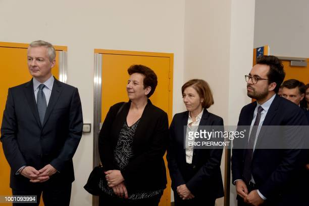 French Finance and Economy Minister Bruno Le Maire Minister of Higher Education Research and Innovation Frederique Vidal Defense Minister Florence...