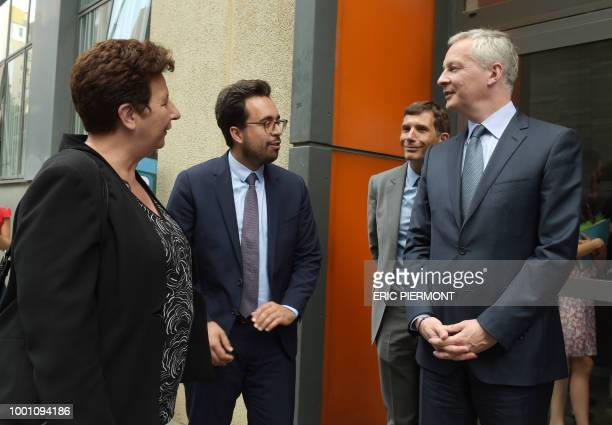 French Finance and Economy Minister Bruno Le Maire Minister of Higher Education Research and Innovation Frederique Vidal and Junior and Minister for...