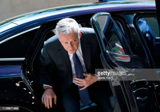French Finance Minister Bruno Le Maire arrives during a Eurogroup meeting at the EU headquarters in Luxembourg on June 13 2019