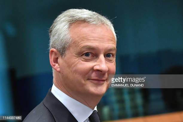 French Finance Minister Bruno Le Maire looks on during an Eurogroup meeting at the European Commission, in Brussels on May 16, 2019.
