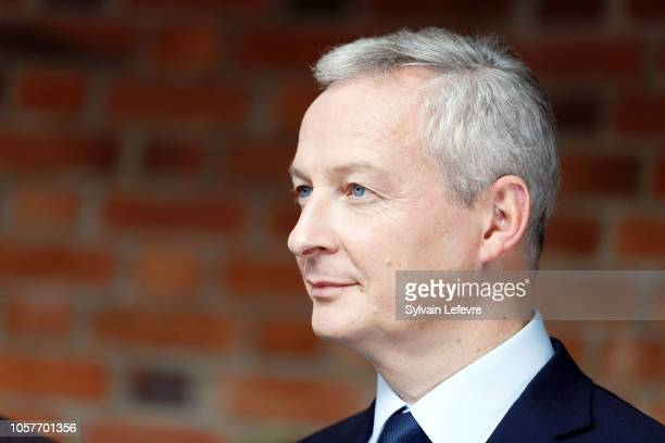 French Finance Minister Bruno Le Maire visits the HaagenDazs Factory of General Mills on November 5 2018 in Arras France