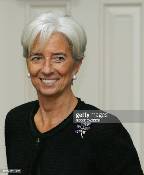 French Finance Minister Christine Lagarde arrives for a press conference following the G20 Finance Ministers meeting in St Andrews in Scotland on...