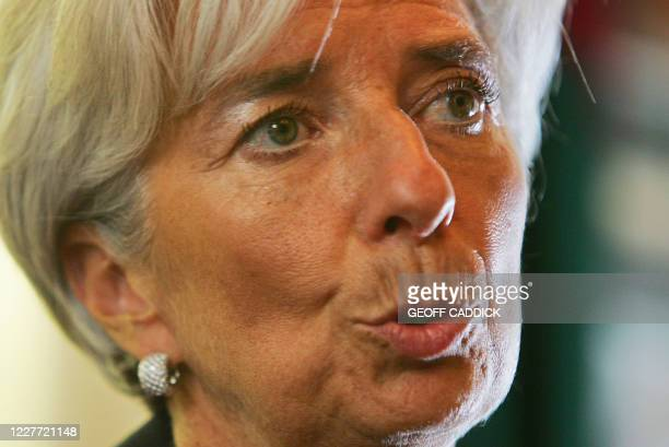 French Finance Minister Christine Lagarde speaks at a press conference in central London on September 4 ahead of the G20 Finance Ministers meeting...