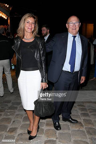 French Finance Minister Michel Sapin and his wife Valerie de Senneville attend 'Don Giovanni Opera En Plein Air' at Hotel Des Invalides on September...