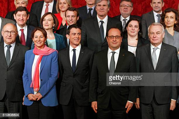 French Finance minister Michel Sapin, French minister for Ecology, Sustainable Development and Energy Segolene Royal, Prime minister Manuel Valls,...