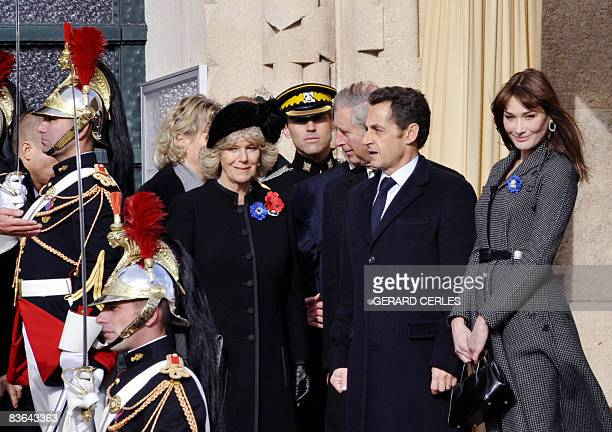 French First Lady Carly BruniSarkozy French President Nicolas Sarkozy Britain's Prince Charles and his wife Camilla the Duchess of Cornwall pose at...