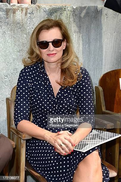French First Lady Valerie Trierweiler attends the Chanel show as part of Paris Fashion Week HauteCouture Fall/Winter 20132014 at Grand Palais on July...