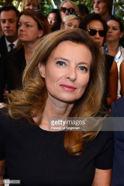 French First Lady Valerie Trierweiler attends the Christian Dior show as part of the Paris Fashion Week Womenswear Spring/Summer 2014 at Musee Rodin...