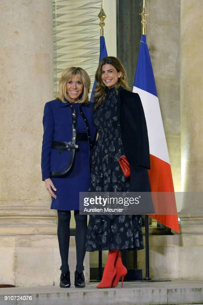 French First Lady welcomes Argentina First Lady Juliana Awada as French President Emmanuel Macron receives President of Argentina Mauricio Macri at...