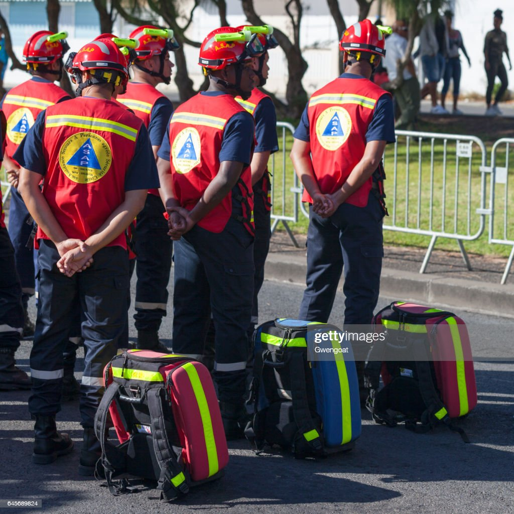 French First Responder - ASAP : Stock Photo