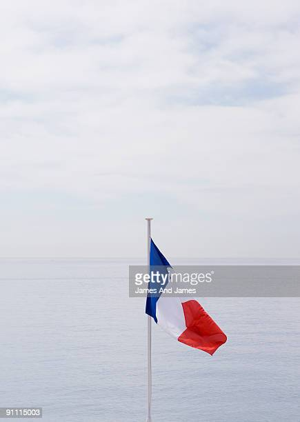 French Flag and French Riviera