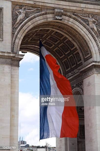 French Flag at the Arc de Triomphe, Paris